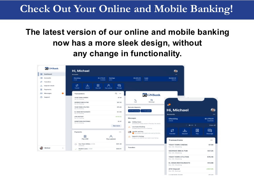 Fresh New Look for online and mobile banking